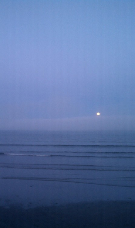 Moon rise at Lynn Beach, MA.