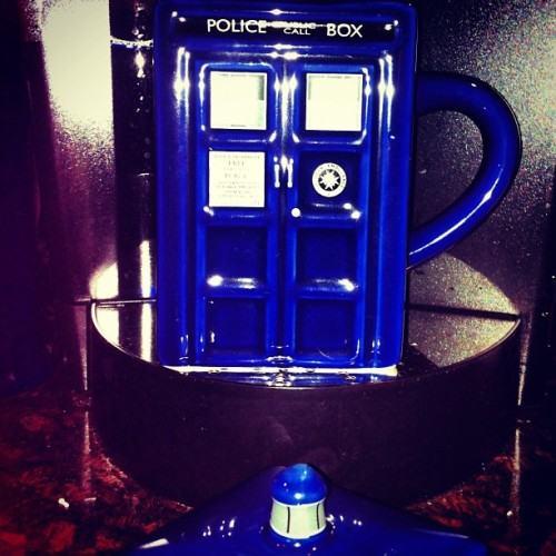 Tardis mug from @thinkgeek #tardis #coffee #doctorwho  (Taken with instagram)