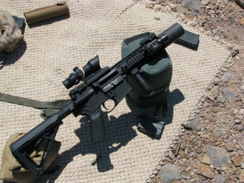 weaponzone:  PWS MK107 w/ Delta P. Design 5.56 Brevis SuppressorCredit : JFComfort  I'd love for my AR to end up like this. Need to order a new optic this weekend. Camping/Hunting season is upon us!