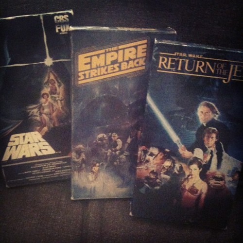 shewasaquietgirl:  My nights booked up! #strwars #vhs #unchangedversionlikeitshouldbe #nocgibitch!!! (Taken with instagram)
