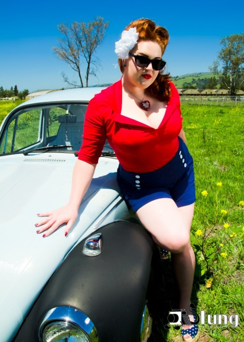 """Volkswagen Love"" Photo by Stung Photography. MUAH/Styling: Self. Necklace by Essem Design. Hair Flower by Lila-Jo. More On Facebook!"