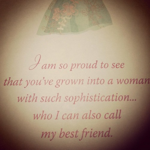 From my mother's day card from my mommy (Taken with instagram)