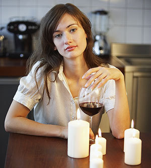 "isthisfeminist:  This woman is drinking alone. IS THIS FEMINIST?  Despair is potentially feminist. However, the ""lighting a romantic candle arrangement for oneself"" factor betrays an over-investment in traditional models of romance and dating. Plus, if she works through that bottle too fast, all her shit's going to be on fire. PROBLEMATIC."