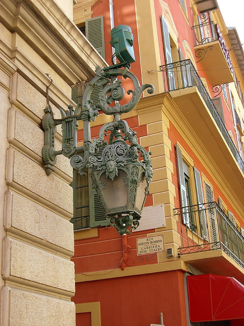 | ♕ |  Antique lantern - Vieux Nice, France  | by © CHRIS230
