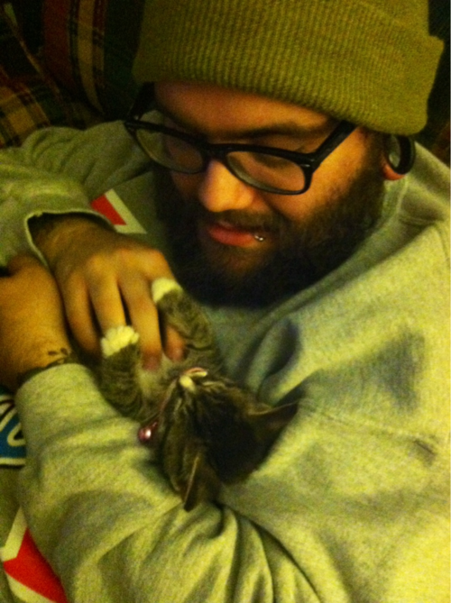 fuckyeahbeards:  Kittens love beards. Any ladies want to  join this kitten??  so tumblr says, but my cat is indifferent to my husband's beard. i keep telling her she's just missing out.