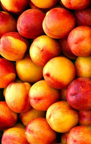 Farmer's Markets have thee best peaches. :) cheers to free samples!
