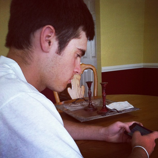 @aaronmalloy is obsessed with his game #focused (Taken with instagram)
