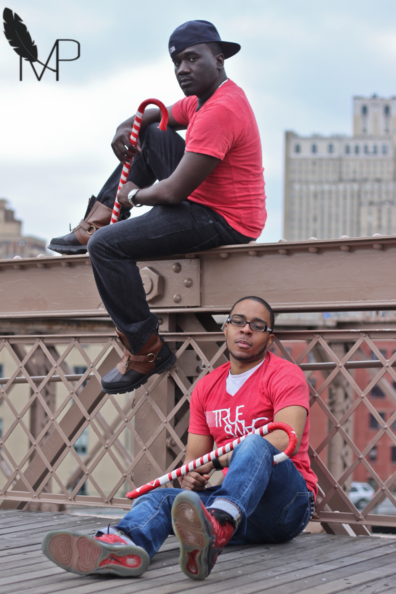 #BTS @ijayapparel shoot at the brooklyn bridge