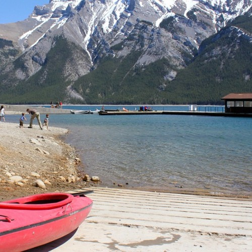 Lake Minnewanka is thawed, and ready to play in! #Banff #Kayaking #UnofficialLakeInspection  (Taken with instagram)