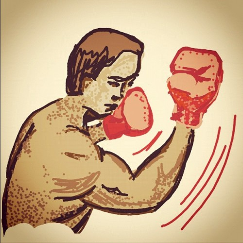 #DrawSomething #Uppercut #Boxing #Fight #Draw #Drawing #iPad #Art? #Fun!!! (Taken with instagram)