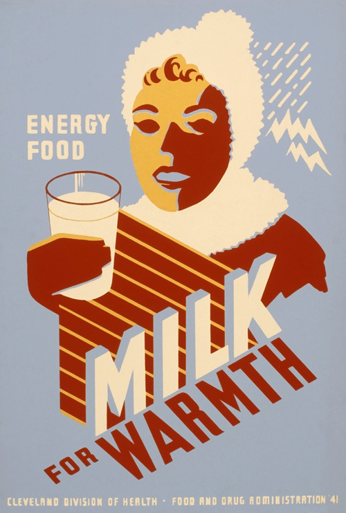 Milk for Warmth, poster (c. 1941) Source: Vintagraph