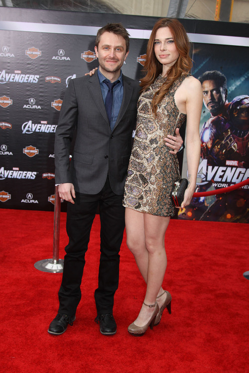 fuckyeahchrishardwick:  Chris Hardwick and Chloe Dykstra at the World Premiere of MARVEL'S THE AVENGERS ©2012 Sue Schneider  I LOVE THESE GUYS!!!!