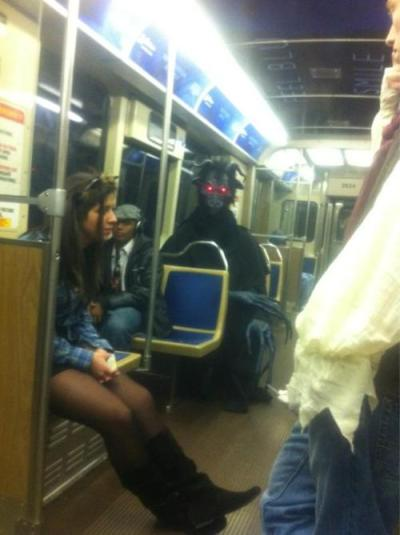 laugh-addict:  Just a normal morning commute. via laugh-addict