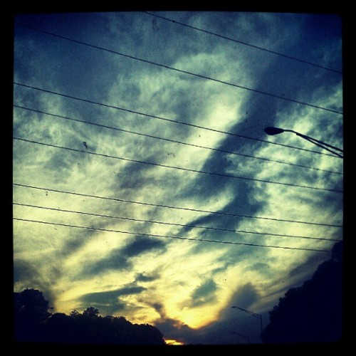 The sun setting on another beautiful day (Taken with instagram)