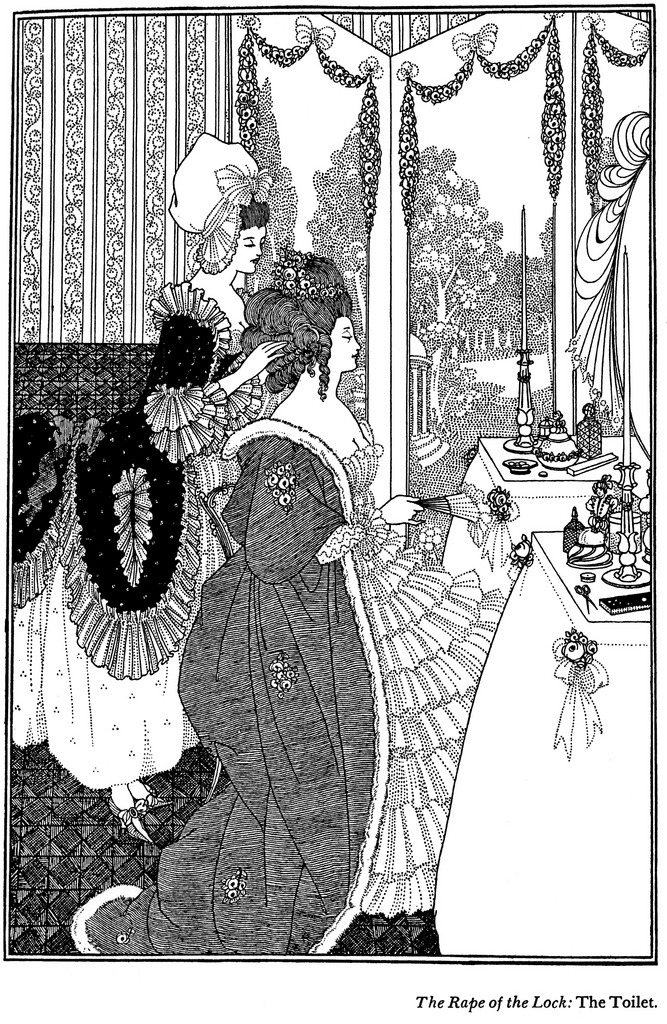 "Aubrey Beardsley — Toilet  illustration to story ""The Rape of the Lock"""