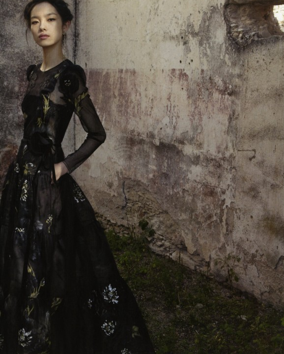 Sun Fei Fei by Deborah Turbeville for Valentino spring/summer 2012