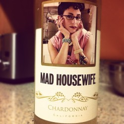 Couldn't be a better fit for today. #madhousewife #vino #artstudentproblems (Taken with instagram)