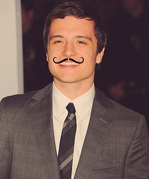 1/5 pictures of Josh Mustache Hutcherson