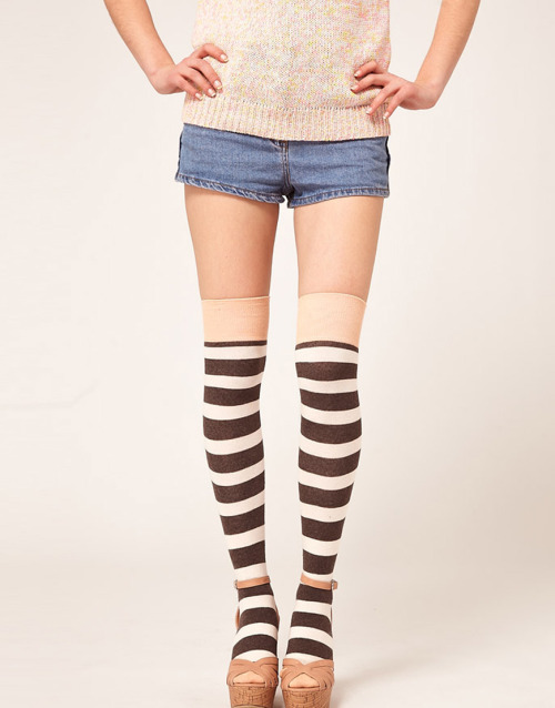 Happy Socks Over The Knee Stripe SocksMore photos & another fashion brands: bit.ly/JgQbIT