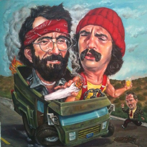 Pretty much done, tired, heading home. #wasted #cheech #chong  (Taken with instagram)
