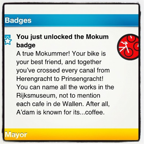 This is an awesome badge.  (Taken with instagram)