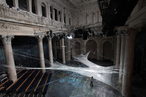arsvivendi:  Spider Web Made From Packing Tape