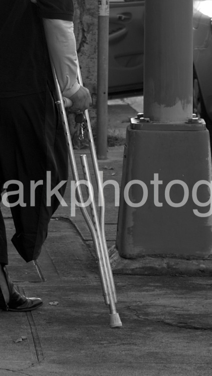 Support.  Taken with my Nikon D7000. I was walking to work one day when I saw this elderly gentleman get out of his car.  I noticed that he was missing a leg when he came out of the car, although you couldn't tell by the ease in which he exited his vehicle.  You're only handicapped if you let yourself be.