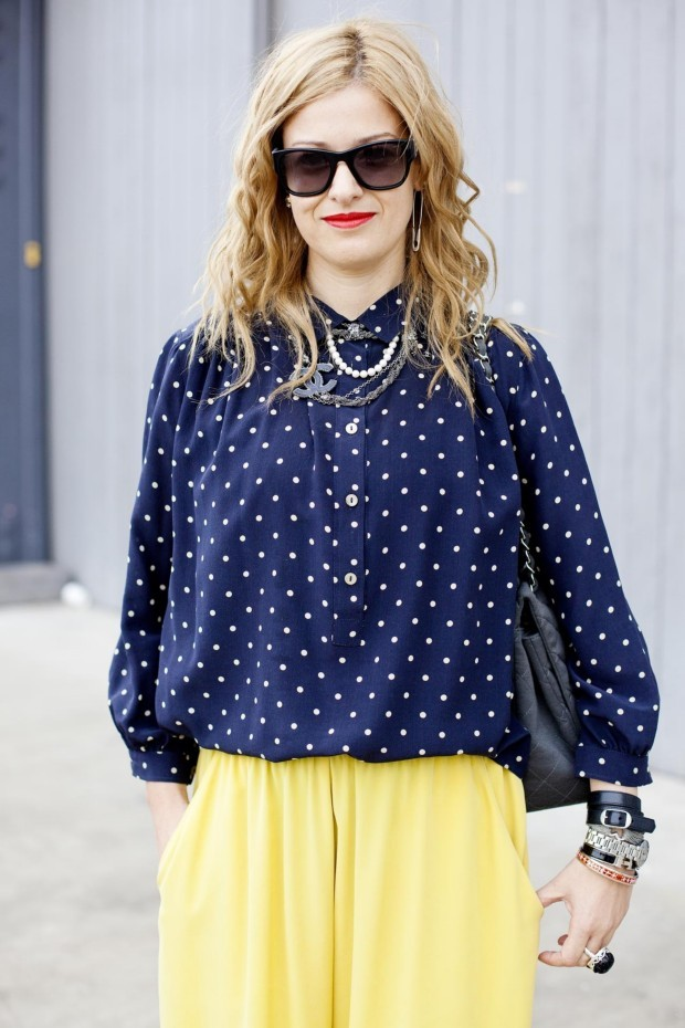 PARLOUR X OWNER/BUYER EVA GALAMBOS AT MBFWA 2012 WEARING ISABEL MARANT BLOUSE, BALENCIAGA CUFF + PUSHMATAAHA SKULL RING.