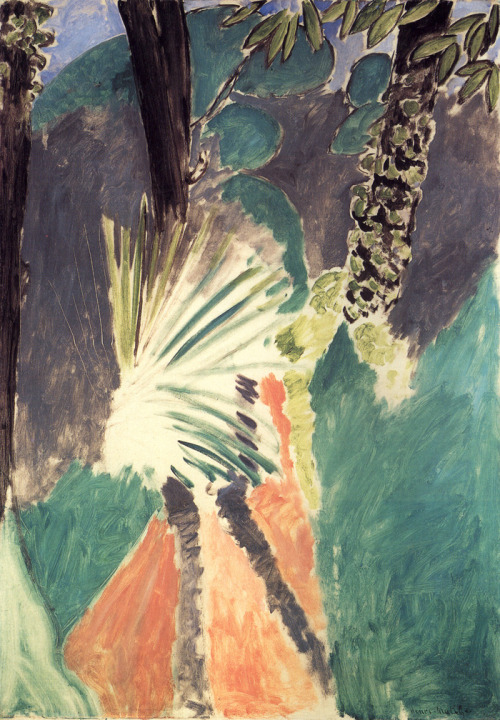 bamboochalet:  Henri Matisse - The Palm (1912)
