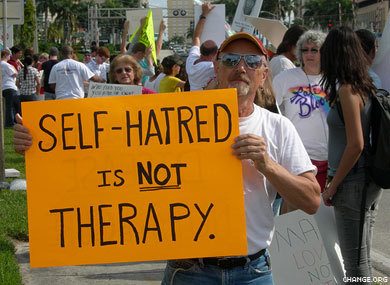 "An eerily accurate response to ""reparative therapy."""