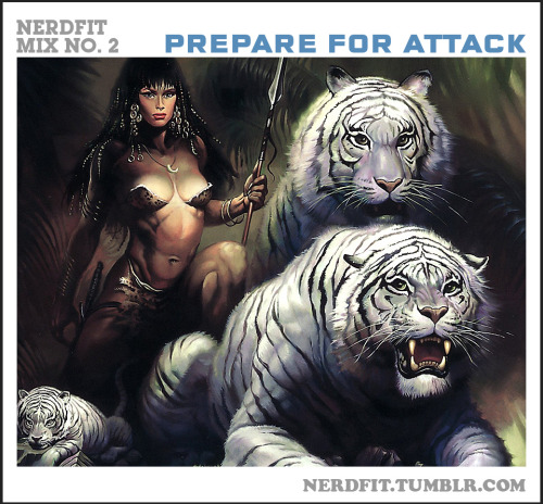 Nerdfit Mix #2 - PREPARE FOR ATTACK! Careful now, this one is powerful, and METAL. If you don't think you like heavy metal, think again. Slam this into your skull and you'll be blasting out new PR's in no time.