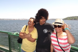 Mother's Day: On the ferry heading to Seattle ;D With my beautiful momma and knuckle-head lil brother.
