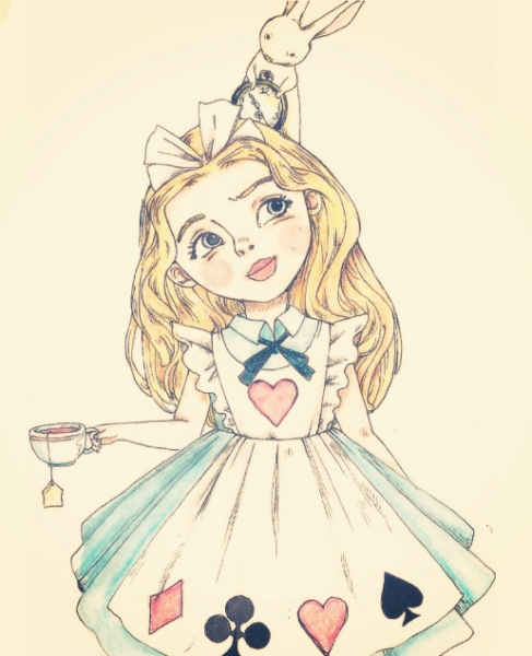 eatsleepdraw:  alice - by serwaa