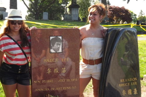 Visited Bruce Lee & his son Brandon today too.
