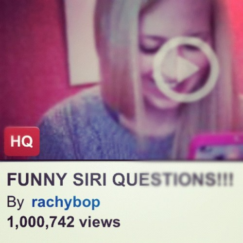 My first video to pass 1 million views happened today :) #youtube (Taken with instagram)