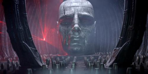 I wa just over at http://www.prometheus-movie.com/ and saw the 6 new stills posted. Maybe I'm crazy, but at  quick glance, the 3rd photo of the giant head statue looked a LOT like Michael Fassbender to me.  Could there be a David Connection we're totally unaware of up to now? Im going to look at doing a good side by side comparison if someone hasn't already done so.
