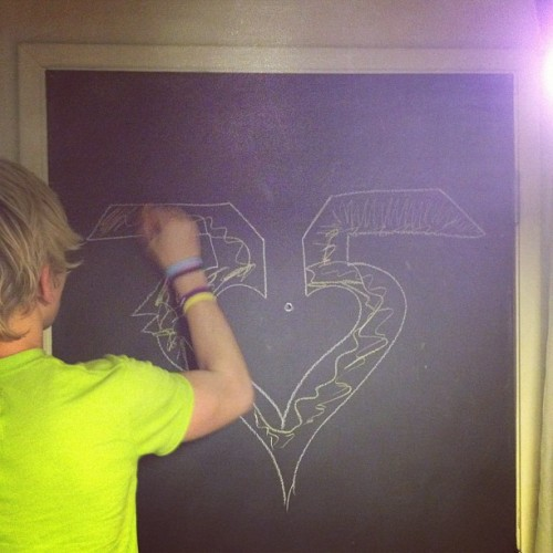"r5-nz:  "". @rossr5 coloring on our chalkboard door in our hotel"