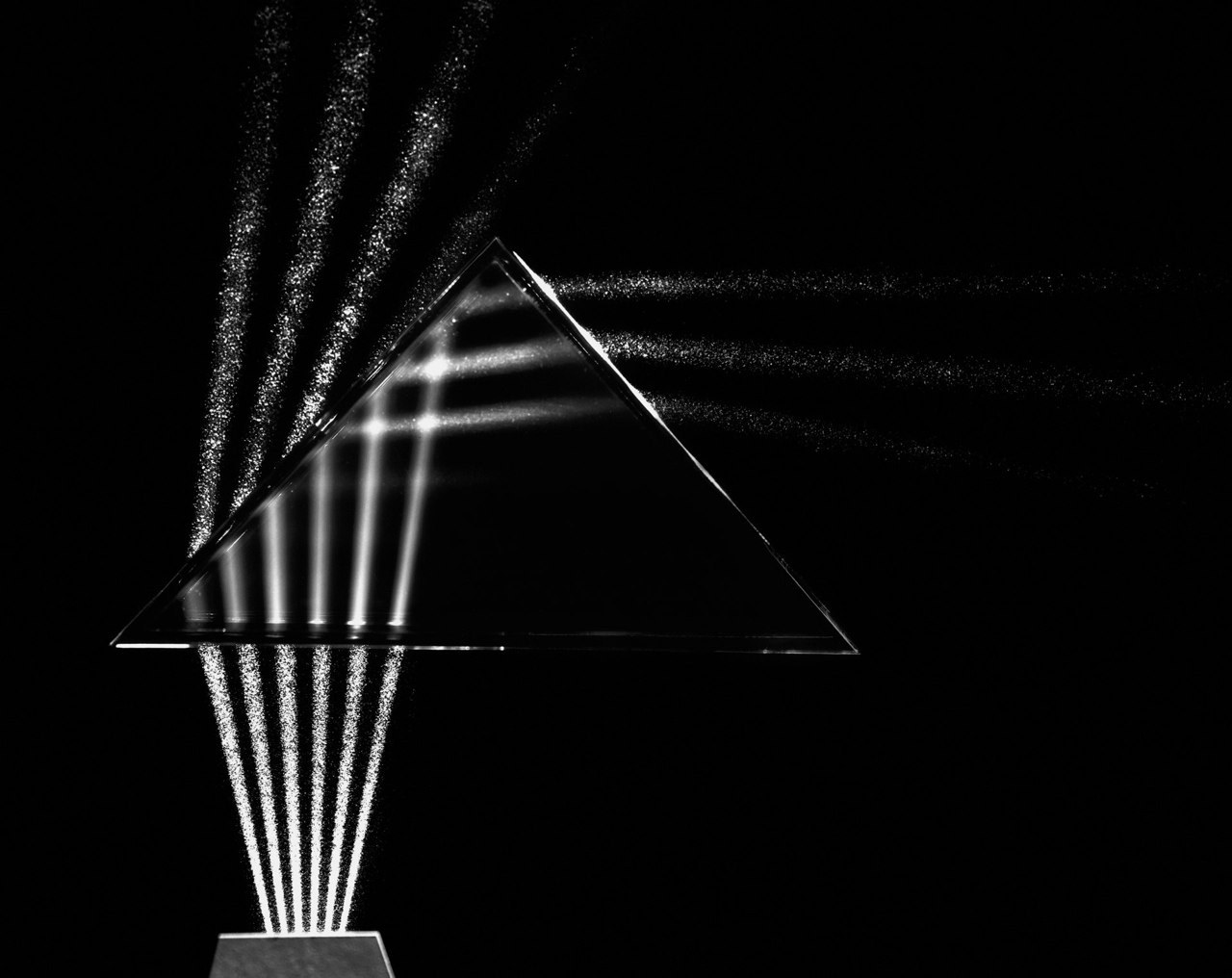 onlyoldphotography:  Berenice Abbott: Light through Prism, Cambridge, Massachusetts, 1958-61