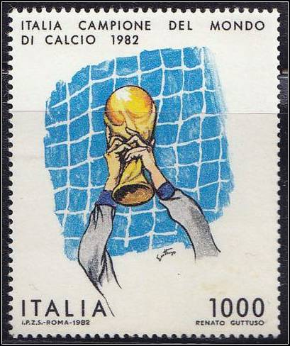 Italia Campione Del Mondo Di Calcio 1982 More Italian football stamps