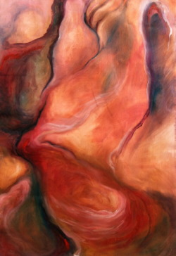 "Viscera.  Oil on paper.  43""x30"".  2012."