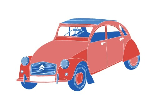 'A French Car'Edition of 25 2 Colour A3 Risograph Print Munken Polar 170gsm Signed and Numbered by the artist     Unframed £25(plus postage & packaging) UK ONLY     Framed £40(plus postage & packaging) UK ONLY