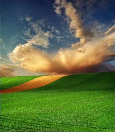 Landscape photography: The Pannonian Plain, Serbia by Katarina 2353 on Flickr.