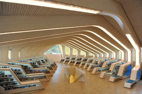 Vennesla Library and Cultural Center/helen&hard via: mymodernmet