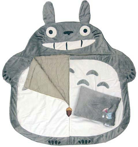 MARK DOWN!!! MY NEIGHBOR TOTORO SLEEPING BAG WITH PILLOW BUY IT NOW ↓↓  Price: US$209→ US$160Totoro Size: W130 x H155cmPillow Size: 28 x 39cm100% PolyesterRound the Sleeping Bag to make a Cushion Out of Production!! EXTREMELY RARE!! http://www.flutterscape.com/product/no/22132/my-neighbor-totoro-sleeping-bag-with-pillow-officialli-licensed-by-ghibli?discovery_id=25181