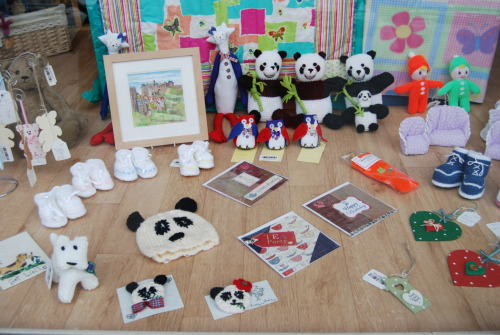Cute panda goodies seen in a shop at Edinburgh