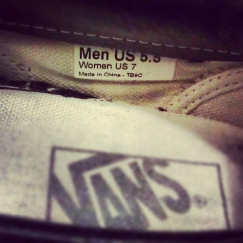 Shoe size. #maychallenge #shoesize #vans #feet #slipons  (Taken with instagram)
