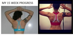 Just looked at my back progress from when i first started prep! This is what 15 weeks did to my back :)