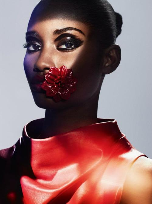 shadesofblackness:  Melodie Monrose for V Spain 12