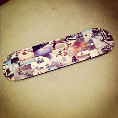 thibarrella:  A skateboarder's skateboard made with tumblr images #skateboard #skateboarding #skate #skateboarder #tumblr #photo (Taken with instagram)