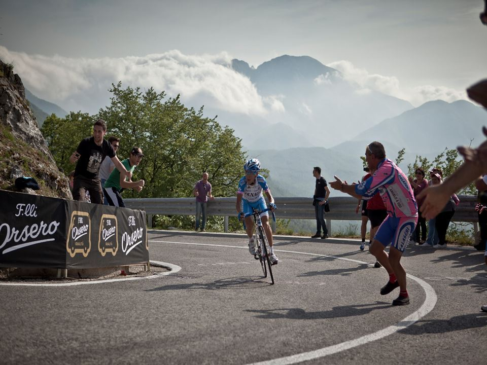 Domenico Pozzovivo - Giro d'Italia Stage 8.  Image by Scott Mitchell for Sky Pro Cycling.